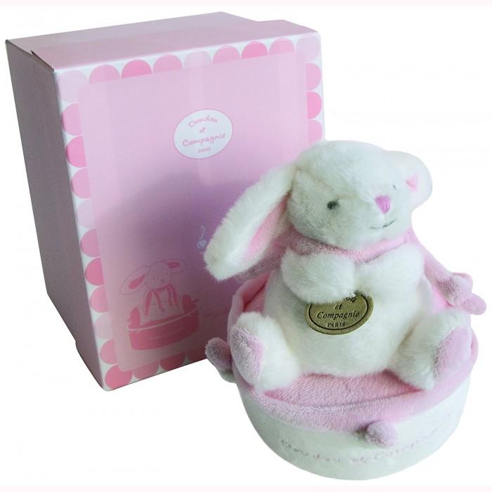 Розовая музыкальная шкатулка для кроликов