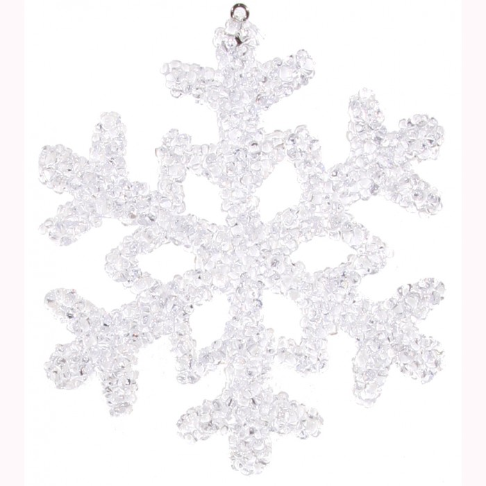 Ice snowflake clear 13cm