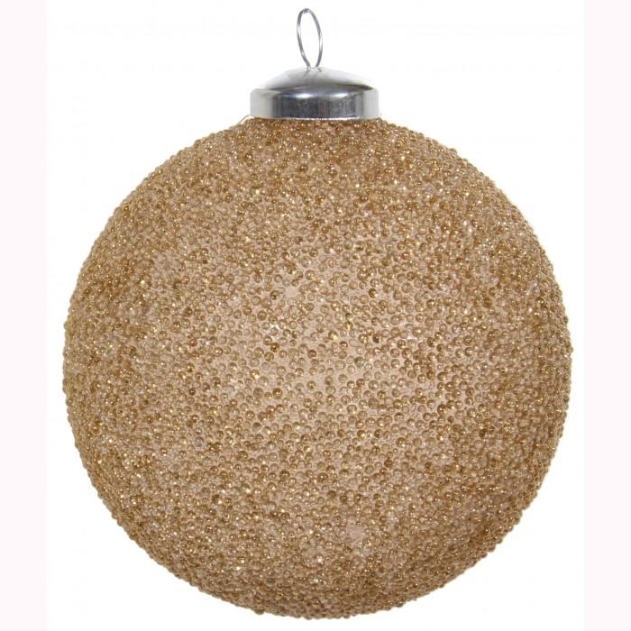 Glass ball gold bead 10cm