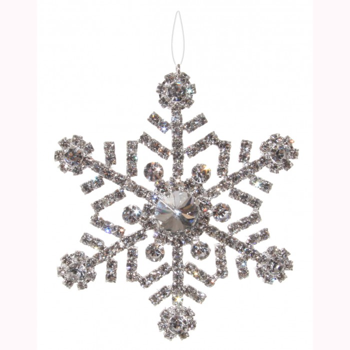 Diamond snowflake clear 9cm