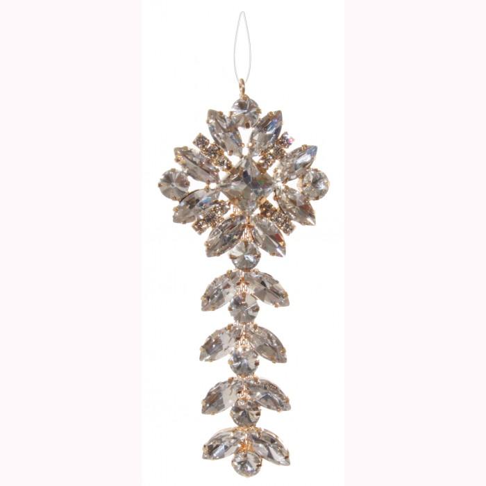 Diamond hanger clear 11cm