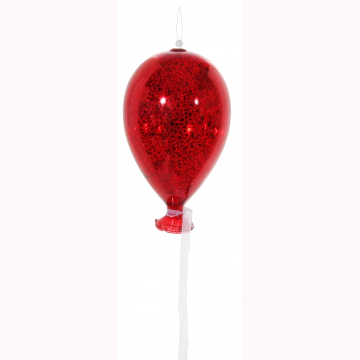 Glass balloon antique red 14cm