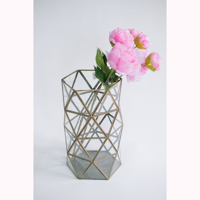 Brass cylinder of triangles 35cm