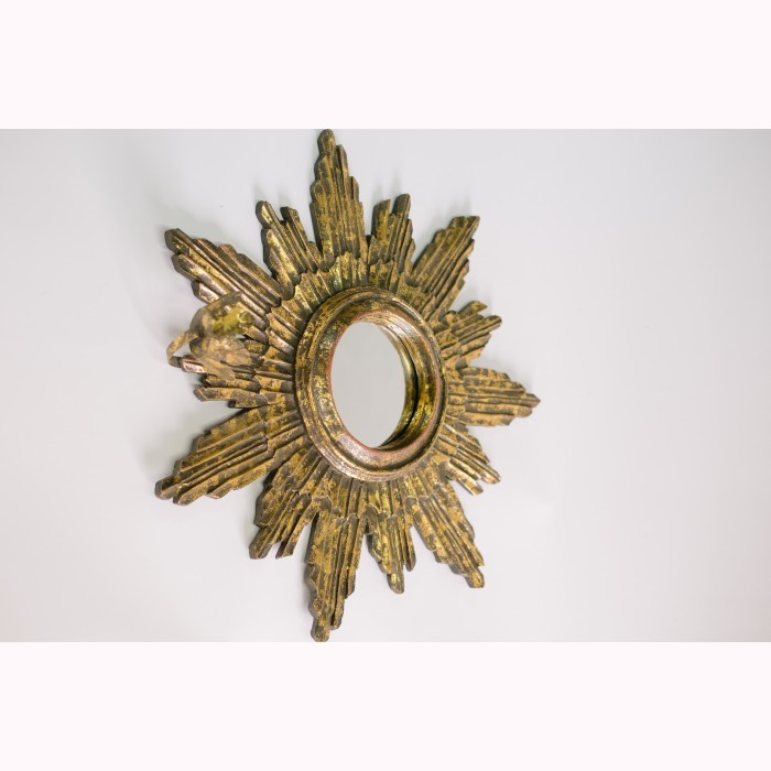 Ray mirror sconce antique gold 58cm