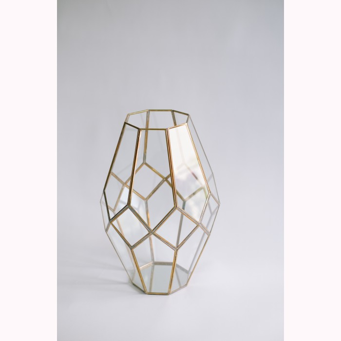Diamond votive brass 50cm