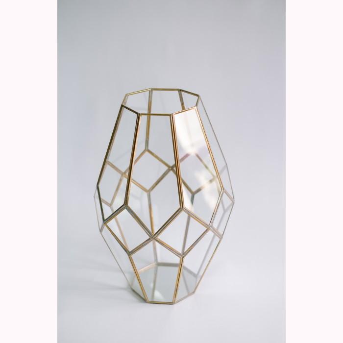 Diamond votive brass 50cm