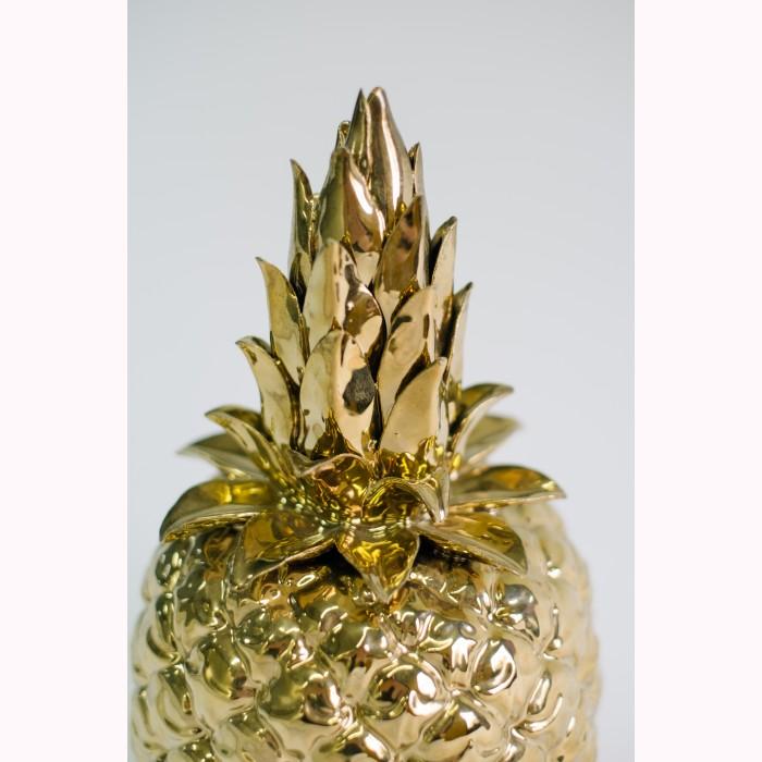 Ceramic pineapple gold h29cm