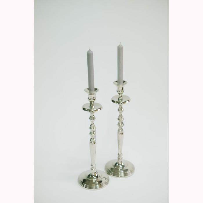 Candleholder silver 40cm
