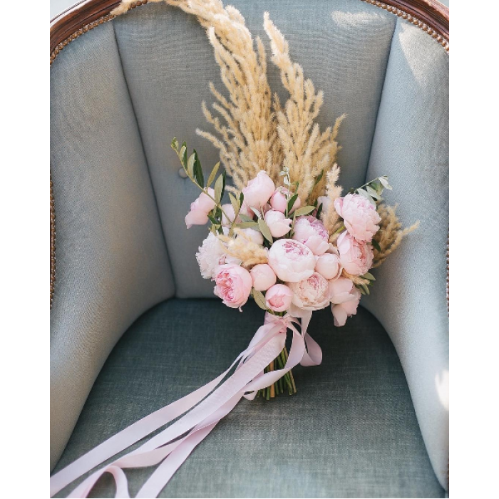 Свадебный букет Пионовая нежность